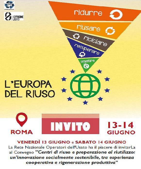 Roma, 13-14 Giugno: grazie al riuso e riciclo 1/6 di giovani disoccupati in meno